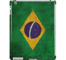 Old and Worn Distressed Vintage Flag of Brazil iPad Case/Skin