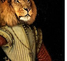 The Fancy Lion - A fun image of a Lion in Noble Attire by doughballdesign
