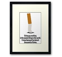 Stop smoking Framed Print