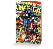Captain America - Cover Mix Greeting Card