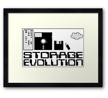 Storage evolution Framed Print