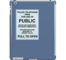 Tardis Notice iPad Case/Skin