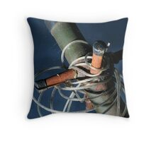 Rusty Washing Line Throw Pillow