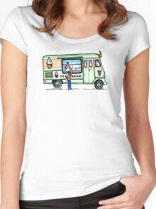 icecream van love Women's Fitted Scoop T-Shirt
