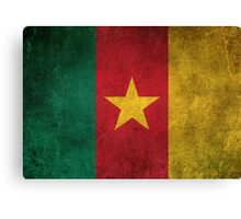 Old and Worn Distressed Vintage Flag of Cameroon Canvas Print