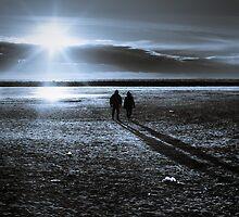 Walkers on the Moon - Grau du Roi, France - 2009 by Nicolas Perriault