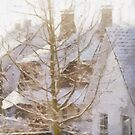 Cottages in the Snow - Belgium by Gilberte