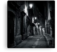 Dark Street - Montpellier, France - 2009 Canvas Print