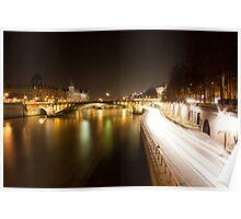 Paris Night Lights - Paris, France - 2009 Poster