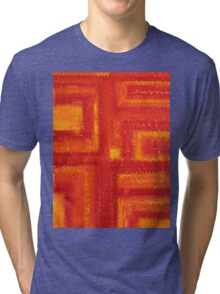 Navajo Rug original painting Tri-blend T-Shirt
