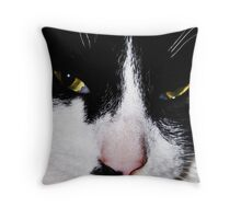 Serious face Throw Pillow