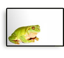 A green visitor Canvas Print