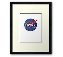 Textured NASA/UNSC Logo Framed Print