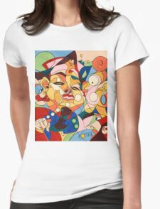 Cartoon - with hidden pictures Womens Fitted T-Shirt