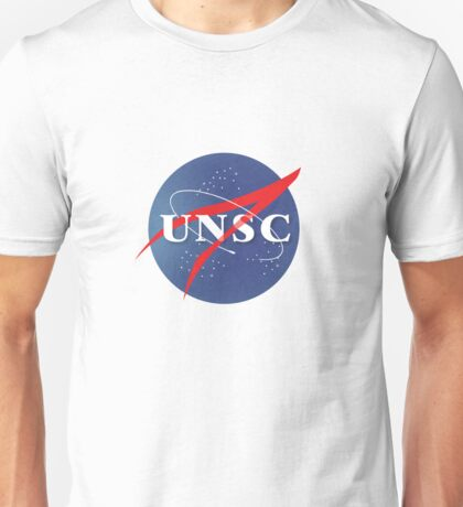 Textured NASA/UNSC Logo Unisex T-Shirt