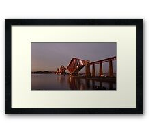 Red Bridge Sunset Framed Print
