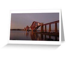 Red Bridge Sunset Greeting Card