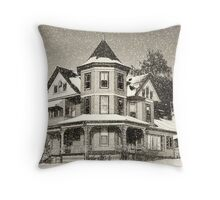 Winter in Sepia Throw Pillow
