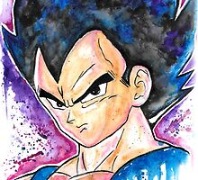 Epic Prince Vegeta - Watercolor - Streetart Tees n more! Jonny2may by Jonny2may