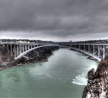 International Bridge - Niagara Falls by Terence Russell
