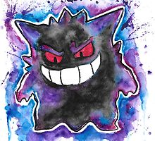 Epic Gengar - watercolor - Street art Tshirts n more! Jonny2may by Jonny2may