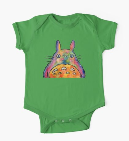 Cute Colorful Totoro! Tshirts + more! Jonny2may One Piece - Short Sleeve