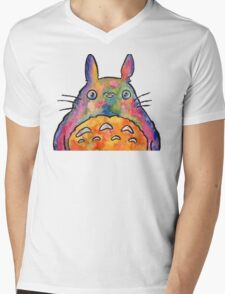 Cute Colorful Totoro! Tshirts + more! Jonny2may Mens V-Neck T-Shirt