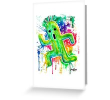 Cute Cactuar - Running Watercolor - Final fantasy - Jonny2may - Awesome!  Greeting Card