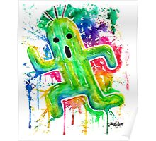 Cute Cactuar - Running Watercolor - Final fantasy - Jonny2may - Awesome!  Poster
