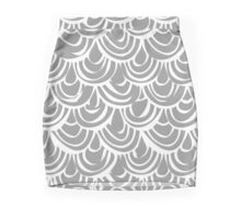 monochrome scallop scales Mini Skirt
