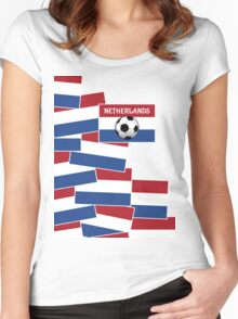 Netherlands Flag Football Women's Fitted Scoop T-Shirt