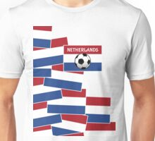 Netherlands Flag Football Unisex T-Shirt