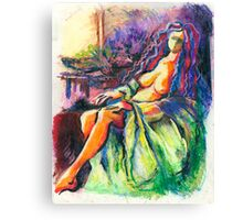 After Bath - Sweet Relaxation Canvas Print