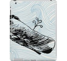Whale in Waves iPad Case/Skin