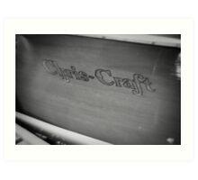 Black & White Chris Craft Art Print