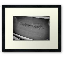 Black & White Chris Craft Framed Print