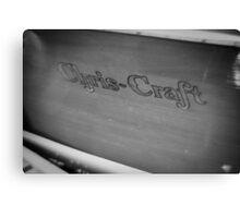 Black & White Chris Craft Canvas Print