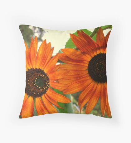 Sunflowers: A Duet Throw Pillow
