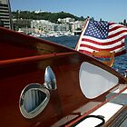 U.S. Flag on Boat by Milo Denison