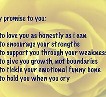 My Promise to You - Yellow Begonia by Doug Greenwald