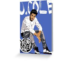 J Cole Greeting Card
