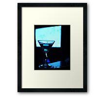 Blue Martini Framed Print