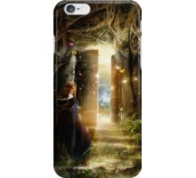 """""""A Knock at the Door"""" - Illustration iPhone Case/Skin"""