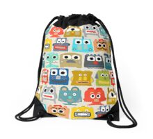 summer baby robots Drawstring Bag