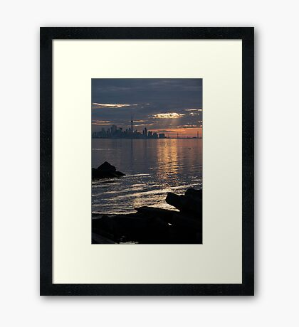Good Morning, Toronto - the Skyline From Across Humber Bay Framed Print