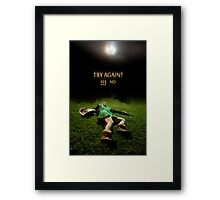 Link - Try Again? Framed Print