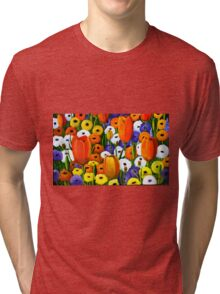 Spring Explosion  acrylic painting Tri-blend T-Shirt