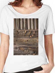 Weathered Wooden Abstracts – Four – Vertical Women's Relaxed Fit T-Shirt