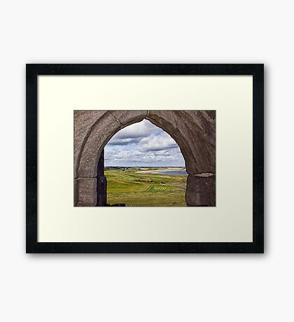 From The Castle Window Framed Print