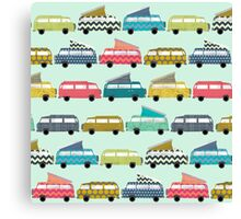 geo campers mint Canvas Print